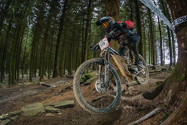 Team Tredz rider Lindsay takes on the final round of the Welsh Gravity Enduro in Bike Park Wales in Merthyr