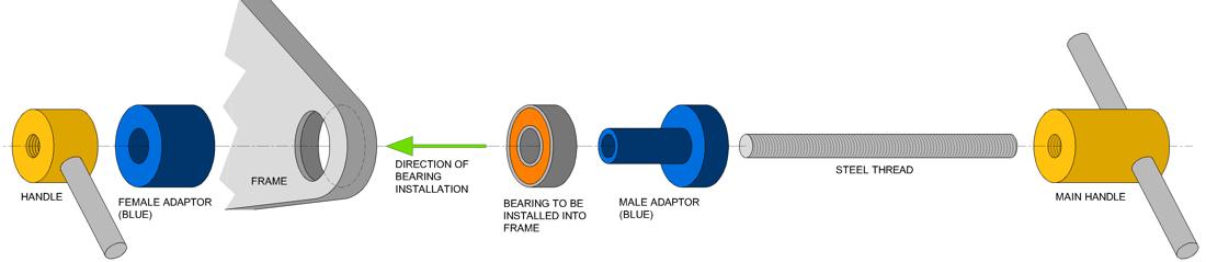 RRP Bearing Extraction Tool diameter