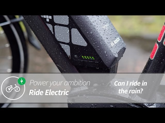 Can You Ride An Electric Bike In The Rain? | Power Your Ambition | Ride Electric