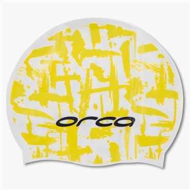 Orca Silicone Swimcap with Print