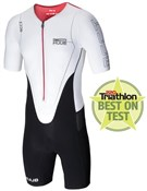 Huub Dave Scott Sleeved Long Course White Triathlon Suit