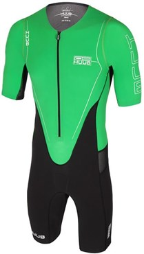 Huub Dave Scott Sleeved Long Course Green Triathlon Suit
