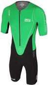Huub Dave Scott Sleeved Long Course Green Triathlon Suit