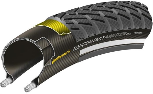 Continental Top Contact Winter II Premium Reflective 700c Hybrid Folding Tyre