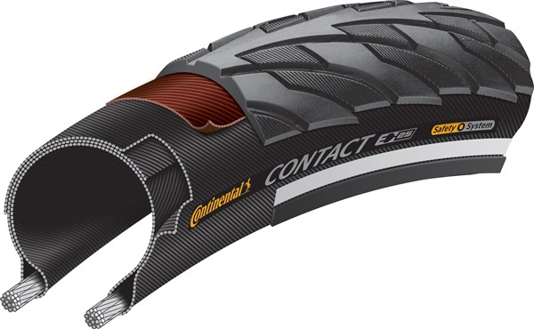 Continental Contact Reflective 700c Tyre | Dæk