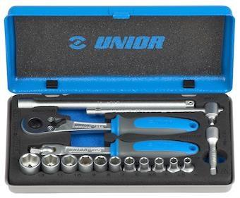 """Unior Socket Set 1/4"""" In Metal Box - 188BI"""