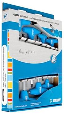 Unior Set Of Ball End Hexagonal Screwdrivers With T-Handle In Carton Box - 193HXSCS