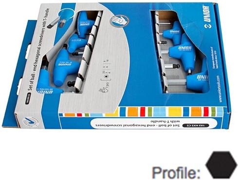 Unior Set Of Hexagonal Head Screwdrivers With T-Handle In Carton Box - 193HXCS