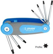 Product image for Unior Set Of Wrenches With Tx Profile In Folding Holder - 220/7TXNFH