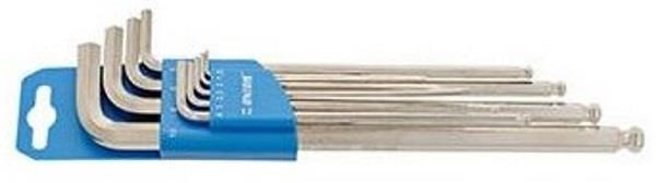Unior Set Of Ball End Hexagon Wrenches, Long Type On Plastic Clip - 220/3SLPH