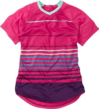Madison Zena Stripes Womens Short Sleeve Jersey