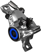Magura Brake caliper MT Trail Carbon rear wheel, 2 piston, chrome, cover blue, rotatable tube connection, incl. brake pads