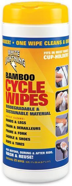 White Lightning Bamboo Wipes | Børster og svampe