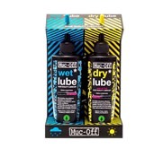 Muc-Off Lube Wet and Dry 120ml Twinpack
