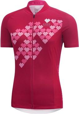Gore Element Womens Digi Heart Short Sleeve Jersey SS17 - Out of ... fc77c4ba9