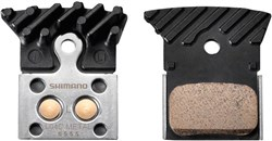 Shimano L04c Disc Brake Pads, Alloy Backed With Cooling Fins, Metal Sintered