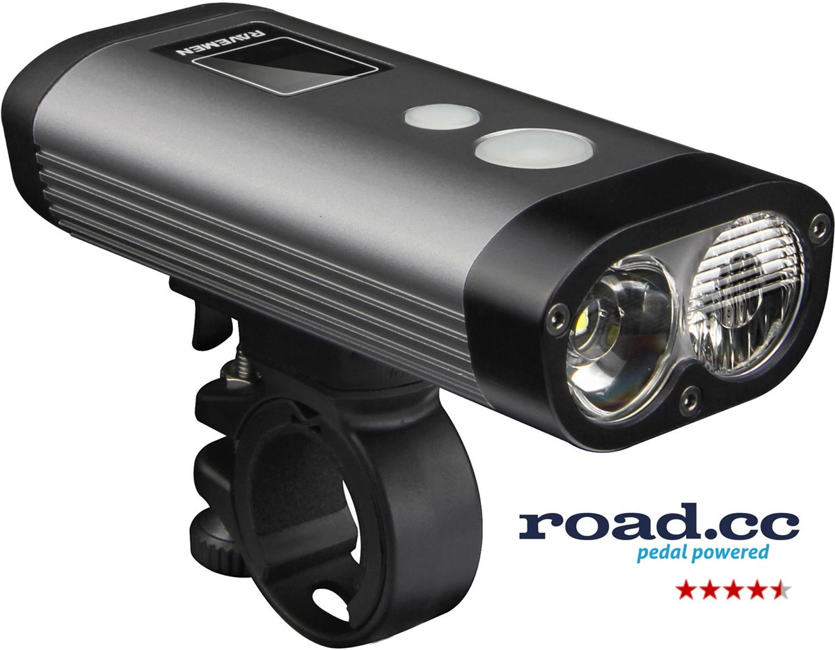 Ravemen PR1200 USB Rechargeable DuaLens Front Light with Remote | Front lights
