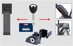 Abus Bordo 6015 With Bosch E-Bike Frame Battery Lock