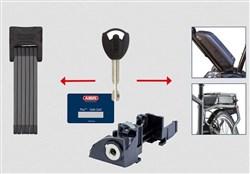Abus Bordo 6015 With Bosch E-Bike Rack Battery Lock
