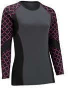 Tenn Sublimated Long Sleeve Womens Cycling Compression Base Layer