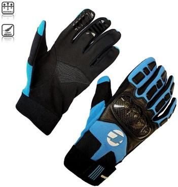 Tenn Unisex Leather & Carbon MTB Knuckle Gloves