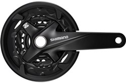Product image for Shimano FC-MT200 2-Piece Triple Chainset With Guard
