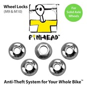 Pinhead Solid Axle Wheel Locks Pair