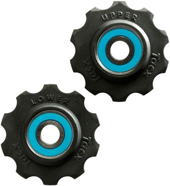 Tacx Jockey Wheels 11 Tooth Ceramic Ball Bearings (Si3N4) With Teflon Wheel | Pulleyhjul