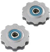 Product image for Tacx Jockey Wheels Ceramic Bearings White (Fits 9/10Spd Shimano)