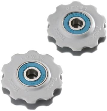 Tacx Jockey Wheels Ceramic Bearings White (Fits 9/10Spd Shimano)