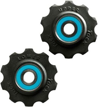 Tacx Jockey Wheels 10 Tooth Ceramic Ball Bearings (Si3N4) With Teflon Wheel