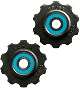 Tacx Jockey Wheels 10 Tooth Ceramic Ball Bearings (Si3N4) With Teflon Wheel