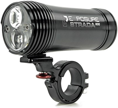Exposure Strada 900 Road Specific Rechargeable Front Light Including Remote Switch With DayBright - 800 Lumens