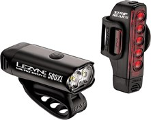 Product image for Lezyne Micro Front 500/Strip Rear 150 Set