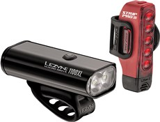 Product image for Lezyne Macro 1100/Strip PRO 300 Light Set