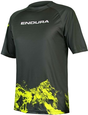 Endura SingleTrack Mountains Print Short Sleeve Tech Tee