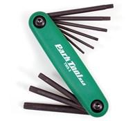 Park Tool TWS2C Fold-up Torx Wrench Set: T7/9/10/15/20/27/30/40