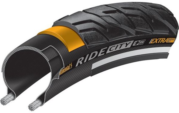 Continental RIDE City 700C Tyre Black Reflex