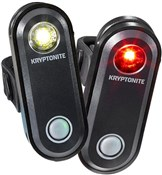 Kryptonite Avenue F-65 & R-30 USB 1 LED Light Set