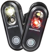 Kryptonite Avenue F-70 & R-35 Dual USB 2-in-1 Light Set