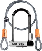 Kryptonite Kryptolok Mini U-lock with FlexFrame Bracket - Gold Sold Secure