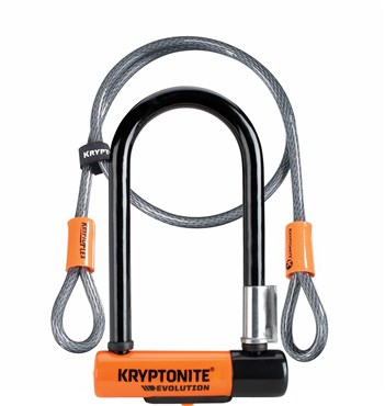 Kryptonite Evolution Mini 7 Lock & 4Foot Kryptoflex Cable - Gold Sold Secure
