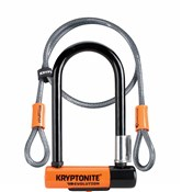 Kryptonite Evolution Mini 7 Lock with 4 Foot Kryptoflex Cable - Gold Sold Secure