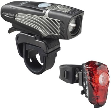 NiteRider Lumina 1100 Boost / Solas 100 USB Rechargeable Light Set | Computer Battery and Charger