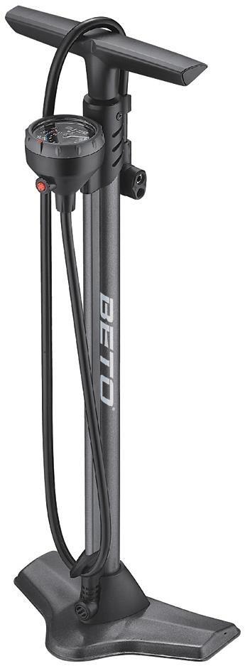 Beto CMP161SGB Steel Floor Pump with Gauge & Bleed Valve | Fodpumper