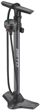 Beto CMP161SGB Steel Floor Pump with Gauge & Bleed Valve