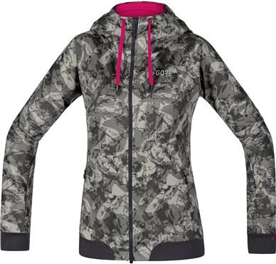 Gore C5 Windstopper Trail Camo Hooded Womens Jacket