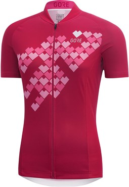 Gore C3 Digi Heart Womens Short Sleeve Jersey | Trøjer