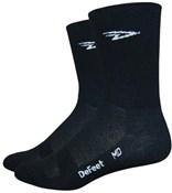 "Defeet Aireator Hi Top 5"" D-logo Double Cuff Socks"