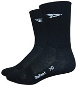 "Defeet Aireator Hi Top 5"" D-logo Double Cuff Socks"